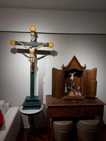 Crucifxo Antigo Cristo crucificado  - Foto 3