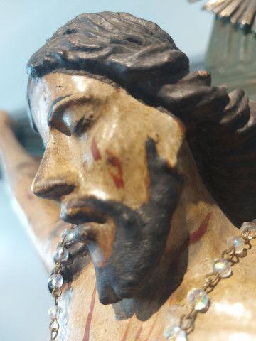 Crucifxo Antigo Cristo crucificado  - Foto 5