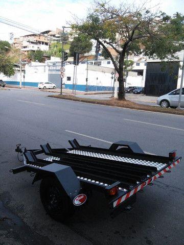 Carretinha para 3 motos  para trilha  - Foto 3
