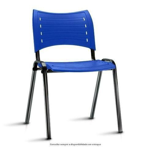 Cadeira fixa empilhável polipropileno colorido modelo Iso à vista dinheiro - Foto 2