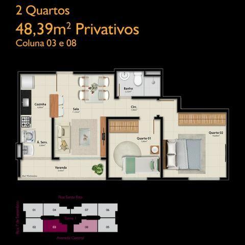 APM-06-2 quartos com opção de suíte - À partir de A.P.E.N.A.S R$134.900,00!!! - Foto 4