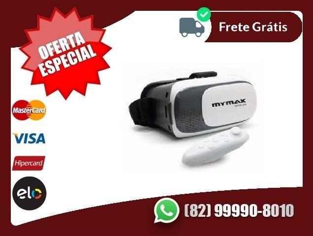 Compre-aqui-Oculos Vr 3D 2.0 Realidade Virtual + Controle
