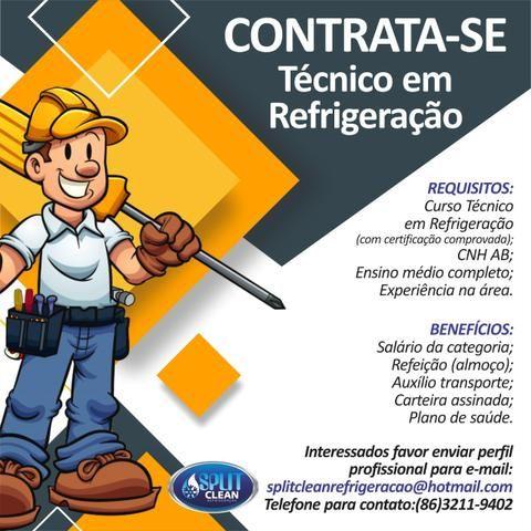 Vaga emprego - técnico refrigeração