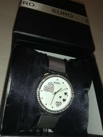 Relógio feminino -marca Euro - Bijouterias, relógios e acessórios ... cedd32b529