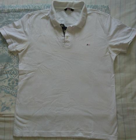 310ba3f4b Camisa Pólo Branca Aramis Masculina tamanho  médio - Roupas e ...