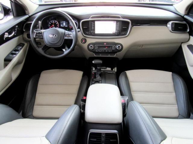 KIA SORENTO 2019 3.5 V6 GASOLINA EX 7 LUGARES 4WD AUTOMÁTICA BRANCA COMPLETA + TETO SOLA - Foto 9