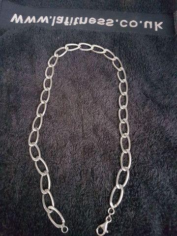 Linda prata grossa maciço desapego top - Foto 5