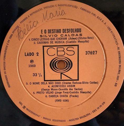 Lp Silvio Caldas E O Deztino Desfolhou 1969 disco vinil - Foto 5