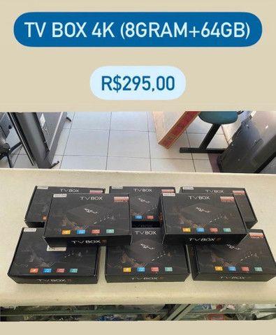 TV BOX 4K, 8gRAM+64gb memória (4x sem juros em todos os cartões)