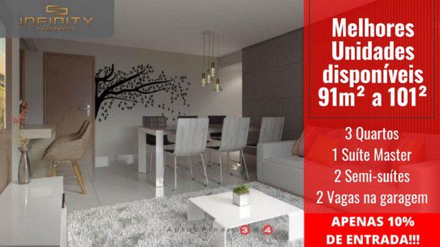Apartamento Impecável, 3 Quartos Grandes, Sala Ampla, Lavabo e 2 Vagas - Foto 9