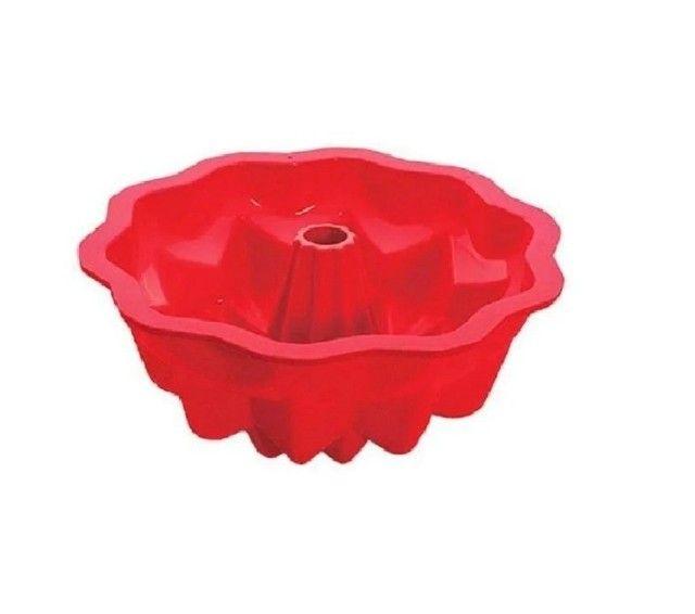 Forma de Silicone para Bolo Torta Pudim 25,5 X 10,3 CM