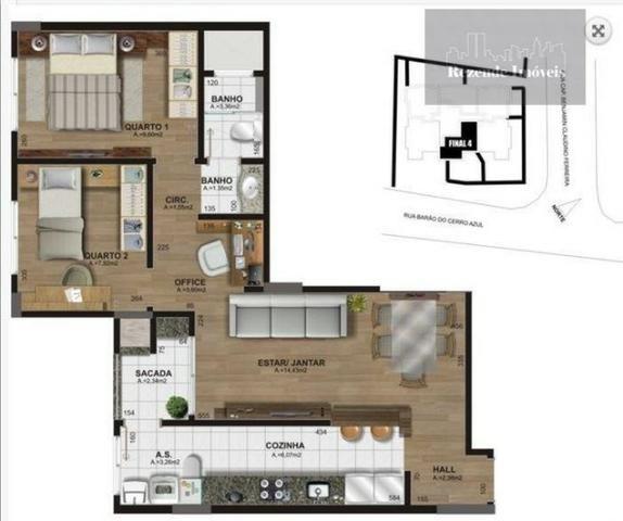T-AP0800-Apartamento, 2 quartos, à venda, Centro, São José dos Pinhais - Foto 7