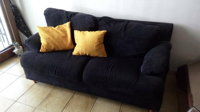 Sofás semi-novos ( 01 azul e 01 preto ) - Foto 4