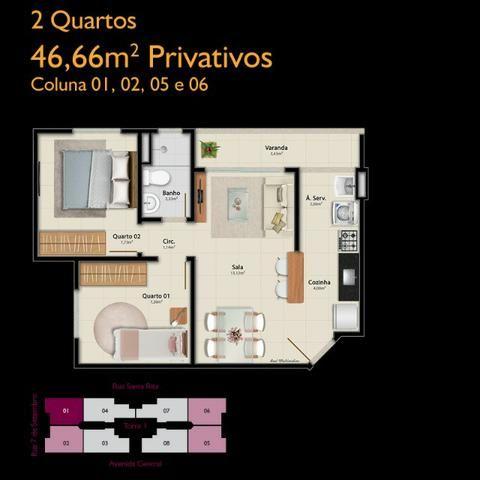 APM-06-2 quartos com opção de suíte - À partir de A.P.E.N.A.S R$134.900,00!!! - Foto 5