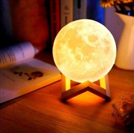 Luminária Abajur Lua Cheia 3d Touch A Maior C/ Nf E Garantia - Foto 3