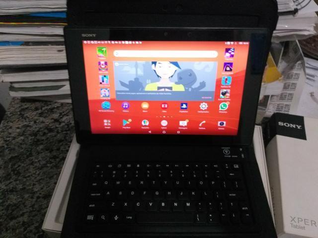 Tablet sony z2, faz ligação como celular aprova de água, carregador magnético, na caixa - Foto 4