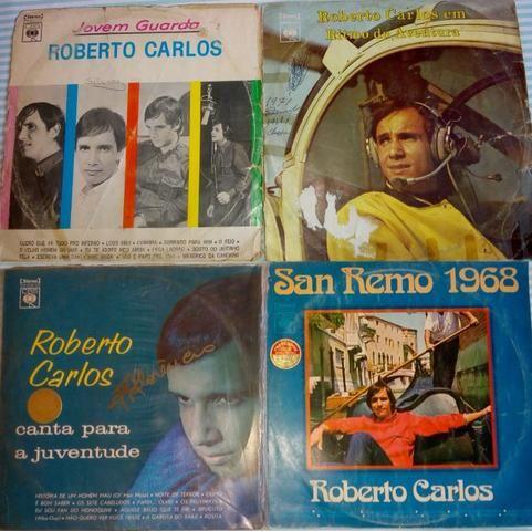 4 LPs Roberto Carlos- 45,00