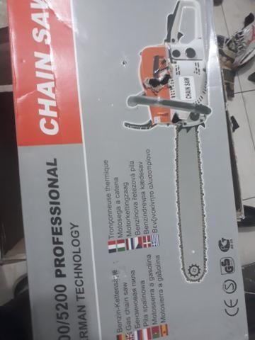 Motosserra 50 cilindradas na caixa com nota fiscal - Foto 3