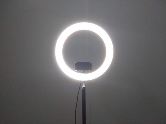Ring Light 26cm + Tripé 1,60m + Tripé de mesa Entrega Grátis - Foto 5