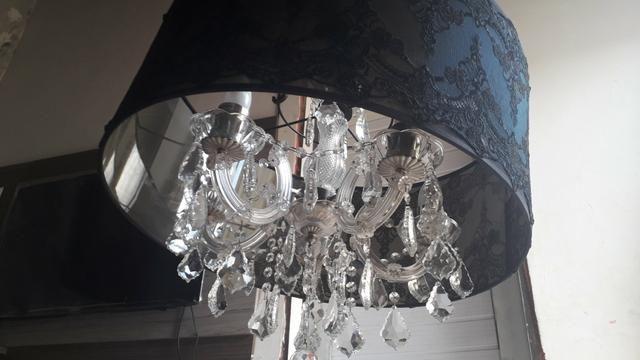 Lustre Mantra com 5 lampadas redoma estilo imperial - Foto 4