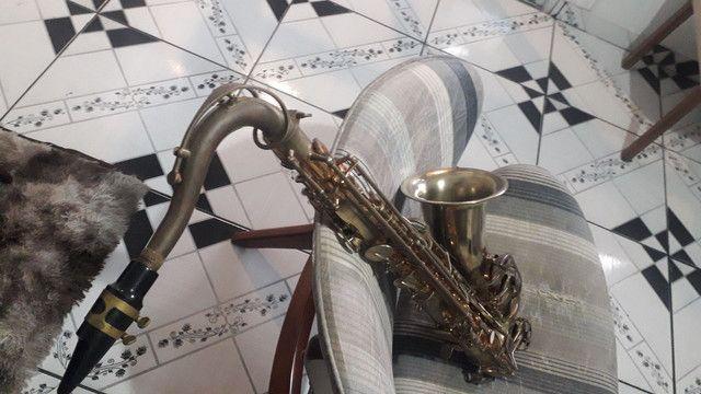 Sax tenor dolphin adição especial instrumento desplacado  - Foto 4