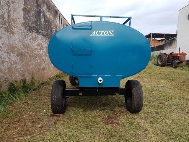 Carreta tanque d'água 5000 litros Acton - Foto 2