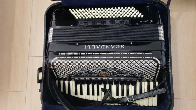 Gaita acordeon Scandalli S6 120 baixos italiana - Foto 2