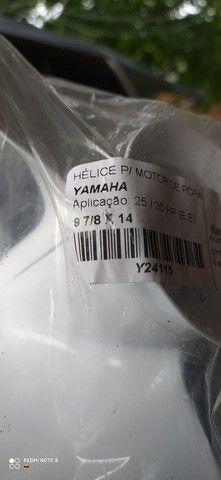 Hélice do motor de popa Yamaha 25-30 Hp 2 tempos!!! - Foto 3