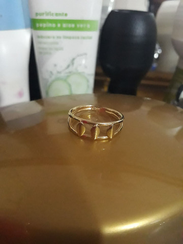 Anel banhado  ouro - Foto 3