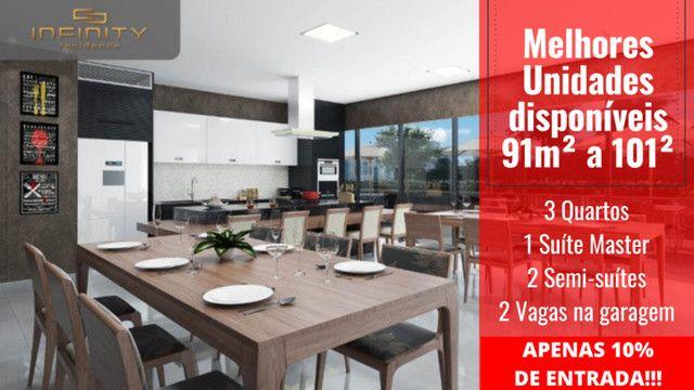 Apartamento Impecável, 3 Quartos Grandes, Sala Ampla, Lavabo e 2 Vagas - Foto 15