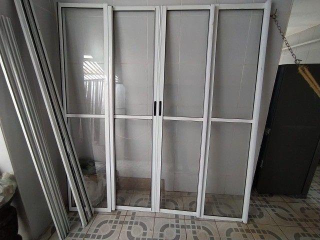 Porta de Vidro, Vidro, Aço, Porta de Vidro com Acabamento Metálico - Foto 3