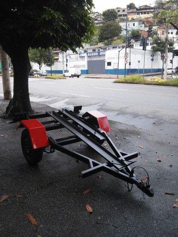 carretinha para 01 moto de trilha - Foto 4