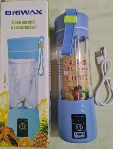 Mini Liquidificador Juice Cup Portátil Shake Cabo Usb - Foto 2