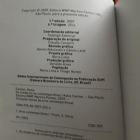 Livro Do moderno ao contemporâneo- Katia Canton - Foto 3