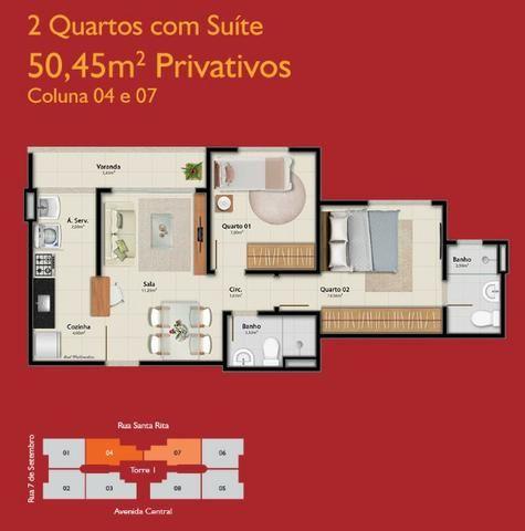APM-06-2 quartos com opção de suíte - À partir de A.P.E.N.A.S R$134.900,00!!! - Foto 3