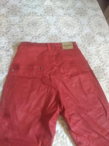 Calça jeans vermelha - Foto 3