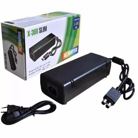 Fonte Para Xbox 360 Slim Bivolt 110v/220v Dois Pinos