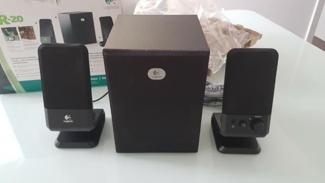 Sistema de Caixas de Som Logitech 2.1 canais Modelo R-20 - Foto 4