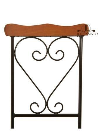 Cadeira de Jantar Ferro e Madeira - Foto 2