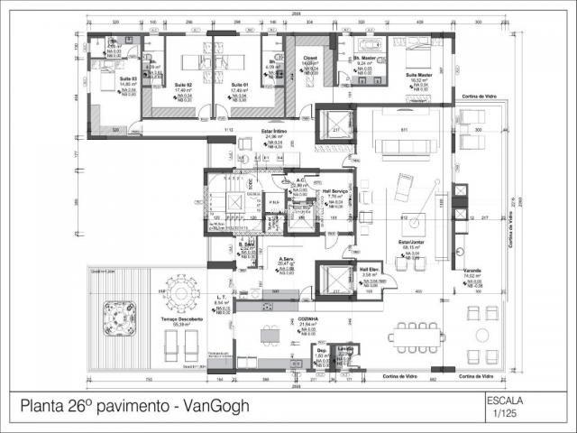Apartamento à venda com 4 dormitórios em Setor oeste, Goiânia cod:1565 - Foto 3