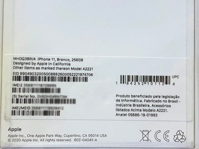 IPhone 11 Branco 256gb, NF + Garantia 1 ano, Anatel, Lacrado, Zero, Novo - Foto 2