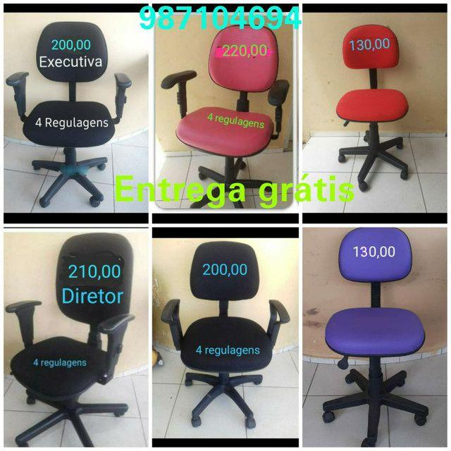 Cadeiras de escritório, caixa , costureira entrega grátis