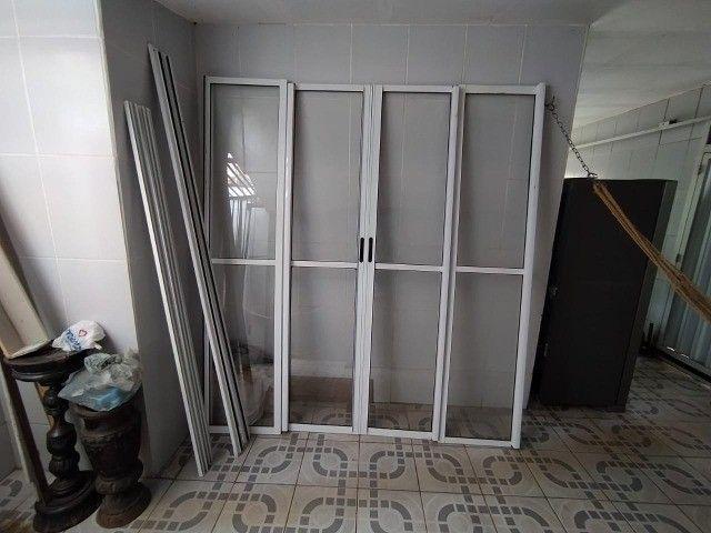 Porta de Vidro, Vidro, Aço, Porta de Vidro com Acabamento Metálico - Foto 4
