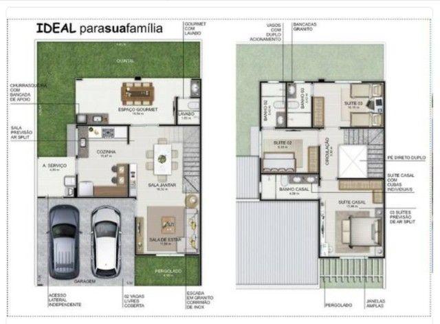 Condomínio Riviera D`Itália Casa Isolada 3 Suítes 2 Vagas - Foto 13