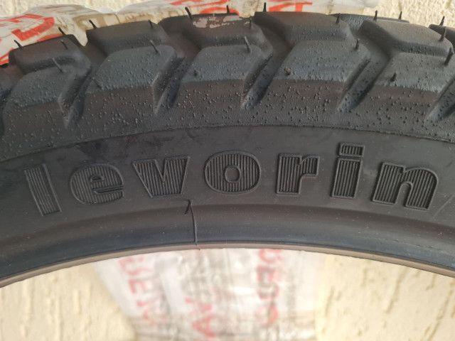 Pneu dianteiro Levorin by Michelin Duna Evo 90/90 r21 54P - XRE 300 - Foto 6