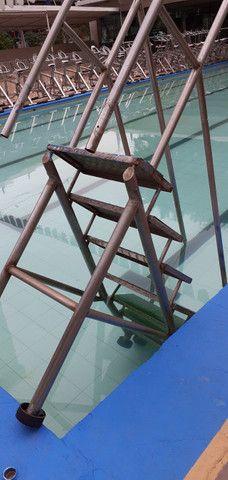 Escada Aço Inox 7 Degraus # Xadrez - Tipo Rampa Para Piscina - Foto 2