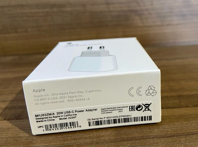 Carregador orignal apple 20w Turbo Usb-c + 1 Metro iPhone XS 11 12 Pro Max - Foto 2