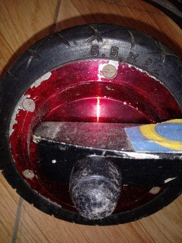 Motor e roda com  cubo p/ scooter, patinete e skate,  pneu 5.5 ? / 24 volts 150W