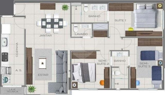 Apartamento Impecável, 3 Quartos Grandes, Sala Ampla, Lavabo e 2 Vagas - Foto 6