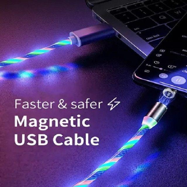"Cabo Led Magnético Carregador ""Micro USB"""" - Foto 3"